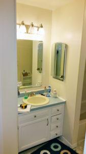 Howell NJ Bathroom Renovation –Vanity Area Before