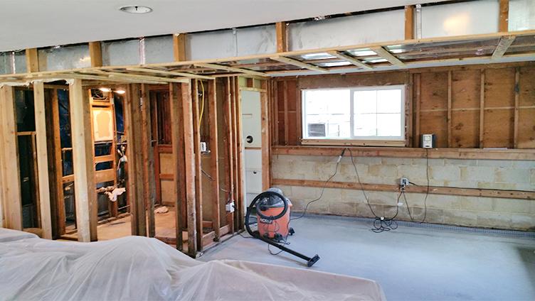 Marlboro NJ Basement During Rasinski Construction Remodel
