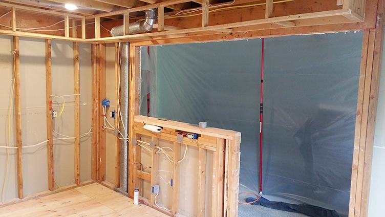 Framing of Kitchen Renovation in Brick, NJ