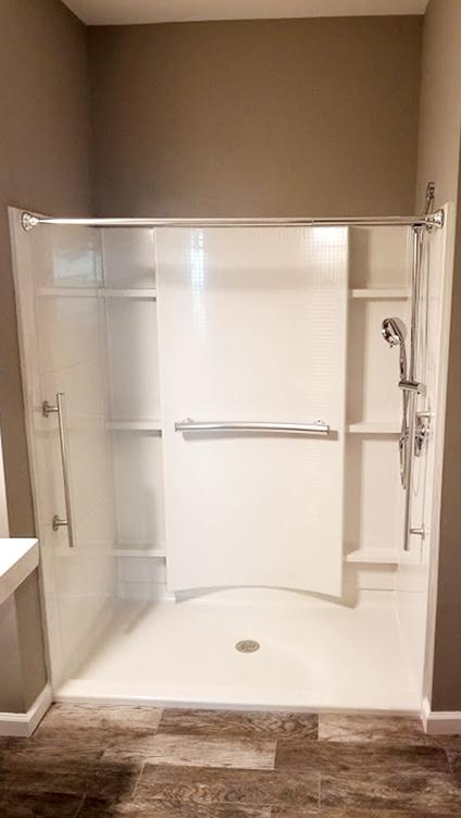 Handicap Accessible Shower Remodel by Rasinski Construction