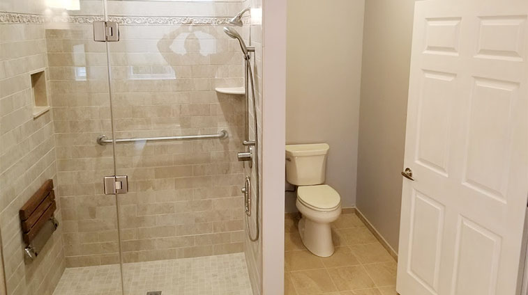 Handicap Bathroom Remodel in Barnegat Township by Rasinski Construction