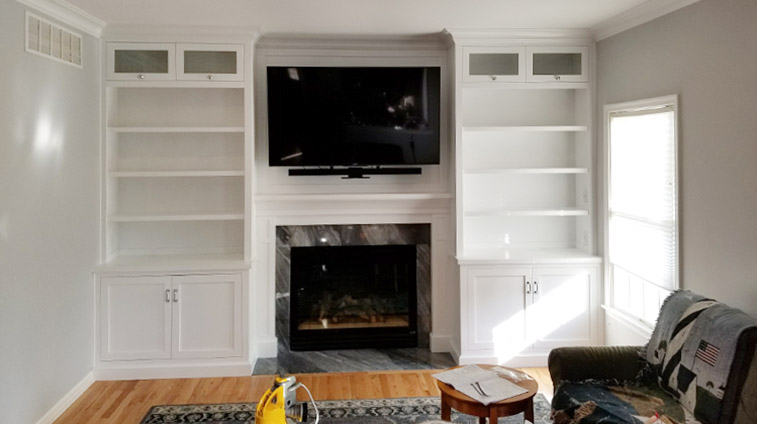 Wall Township Built-In Project After Photo - Rasinski Construction