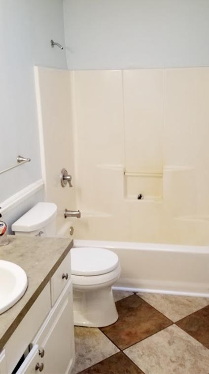 Monmouth County Bathroom Shower Before Rasinski Construction Remodel