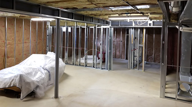 Framing of a Basement Remodel in Ocean County by Rasinski Construction