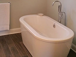 Master Bathroom Tub Before and After - Remodeling by Rasinski Construction
