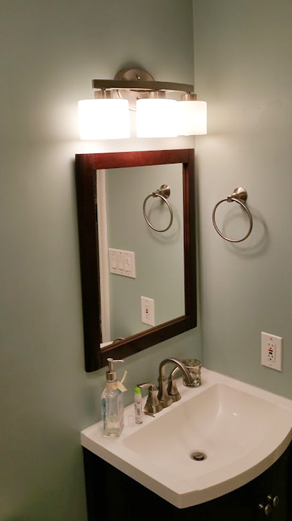 Vanity in Manasquan NJ Bathroom Remodel by Rasinski Construction