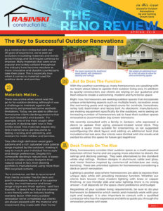 Spring 2018: Home Remodeling Tips and Trends Spring 2018 - Reno Review from Rasinksi Construction