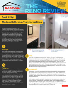 Home Remodeling Tips and Trends Summer 2018 - Reno Review from Rasinski Construction
