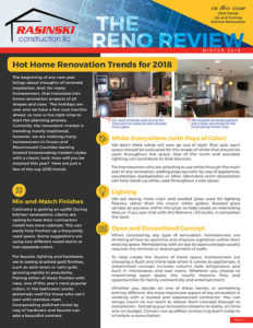 Home Remodeling Tips and Trends Winter 2018 - Reno Review from Rasinski Construction