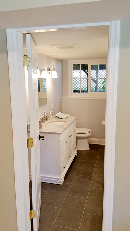 Remodeled Basement Bathroom by Rasinski Construction