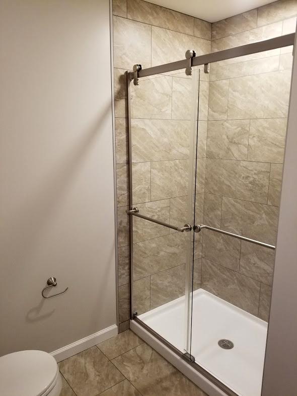 Bathroom in Finished Basement by Rasinski Construction