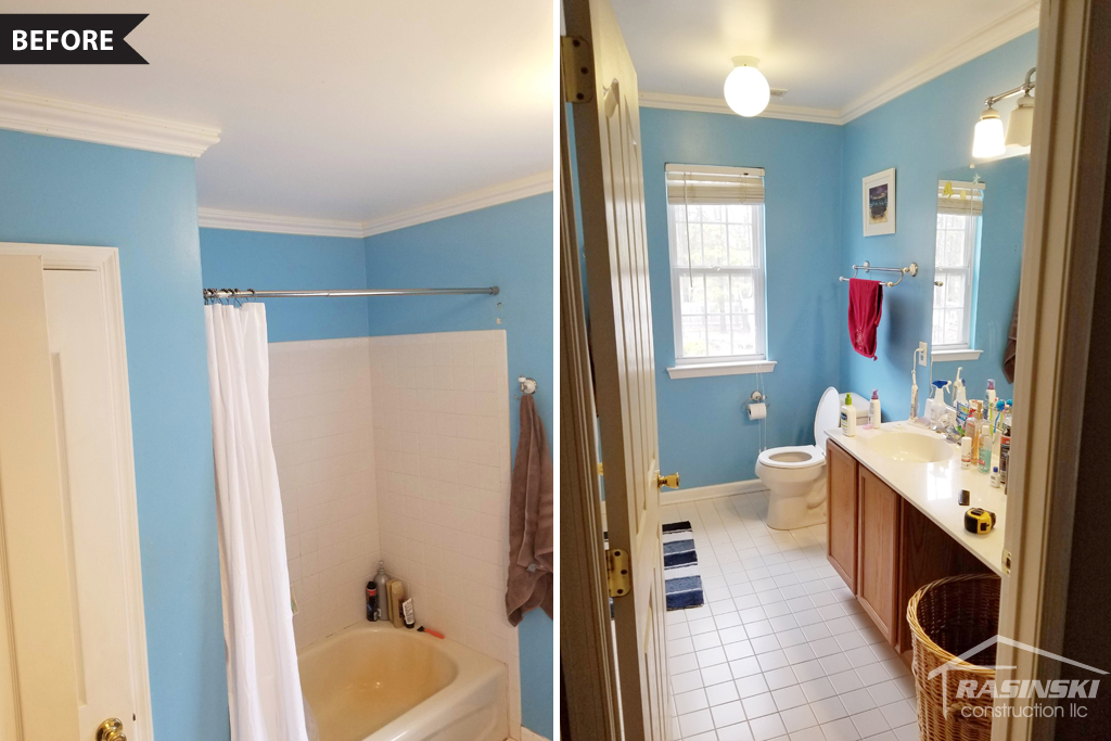 Ocean County NJ Bathroom Before Rasinski Construction Remodel