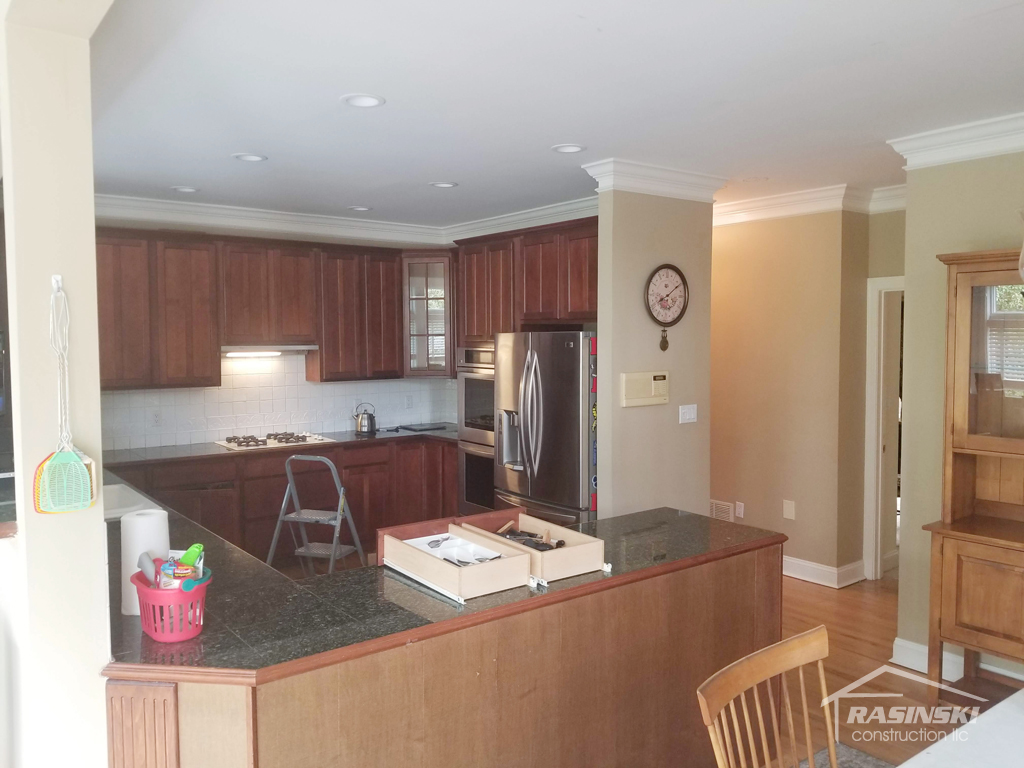 Kitchen in Monmouth County NJ Before Remodel by Rasinski Construction View 1