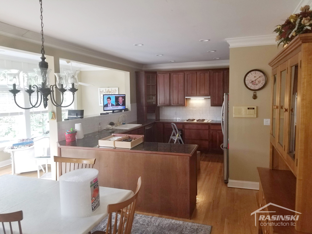 Kitchen in Monmouth County NJ Before Remodel by Rasinski Construction View 2